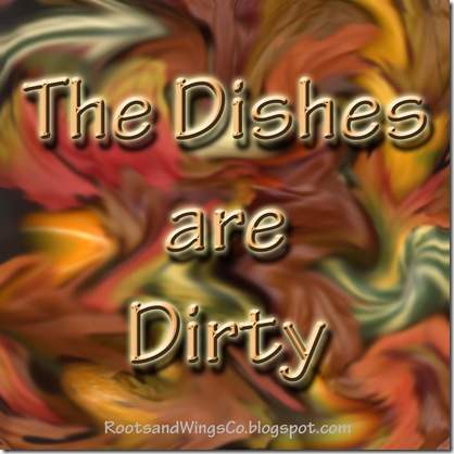 the dishes are dirty
