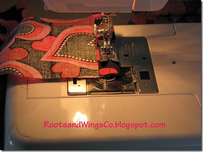 sew the top edge