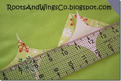 1 use a ruler to line up your appliques
