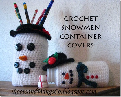 Snowman Pencil holder and Candy jar