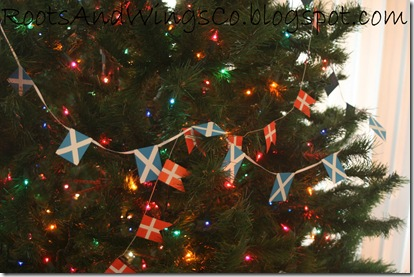 scottish flag danish flag garlands christmas