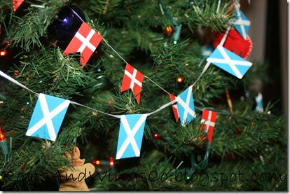 danish flag scottish flag garlands christmas