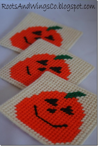 halloween plastic canvas coaster b