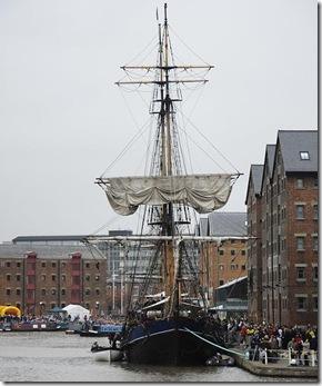 Gloucester Docks tallship 2008