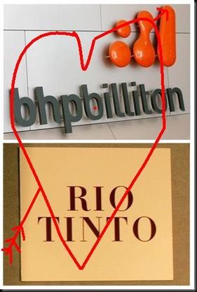 bhp billiton rio tinto merger