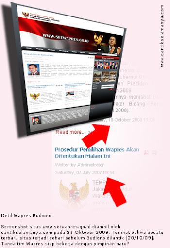 Screenshot Situs Setwapres, http://www.setwapres.go.id/