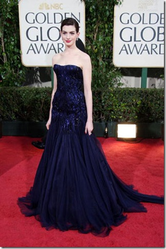 anne hathaway 66th Annual Golden Globes 2009. Anne Hathaway in Giorgio