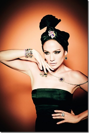 Jennifer Lopez for Tous ad campaign 2011 in turban