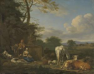 RIJKS: Adriaen van de Velde: painting 1664