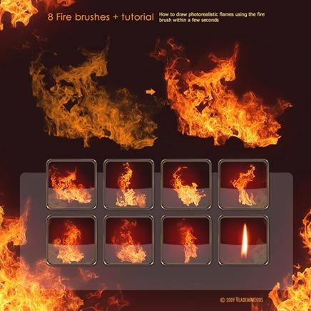 pinceles de fuego