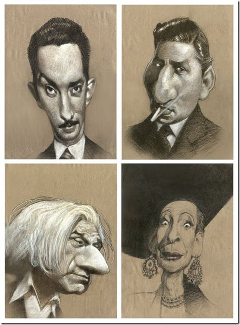 caricaturas colection por 4 en b