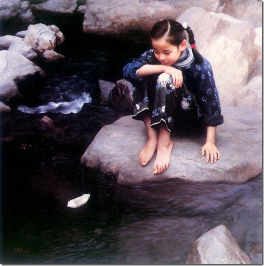 Child by Water