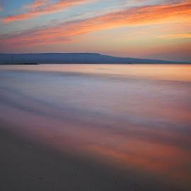 July sunrise by Alexander Kalenski - Landscapes Beaches ( black sea, color, july, beach, morning,  )