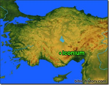 Iconium-map
