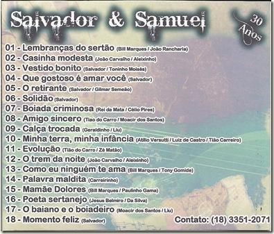 Salvador e Samuel CD Contracapa