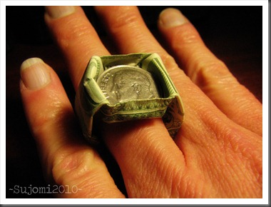 Origami Dollar Dime In Ring