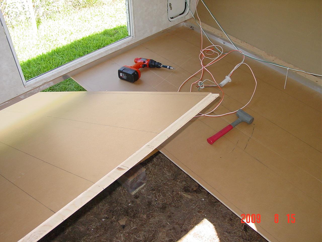 Marine Plywood Bathroom Floor : Rebuild surveyor floor