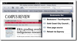Bookmarklet in Safari