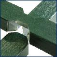 Croisillons en aluminium avec film structuré