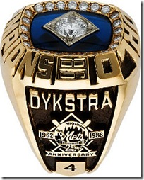 Lenny Dykstra's World Series Ring