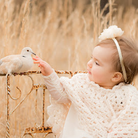 The Visitor by Jody Johnson - Babies & Children Children Candids ( outdoors, one yr, photorad, rustic, dove )