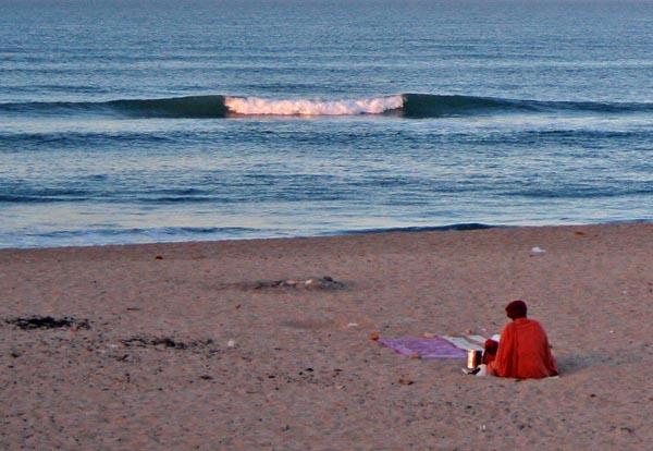 Peace at Seashore — Early Morning at Dwarka Beach