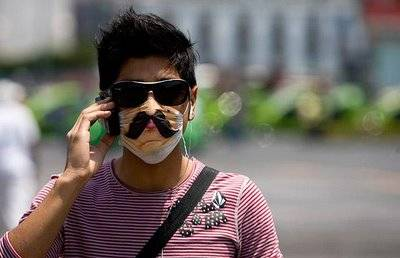 Swine Flu Mask with Mustache