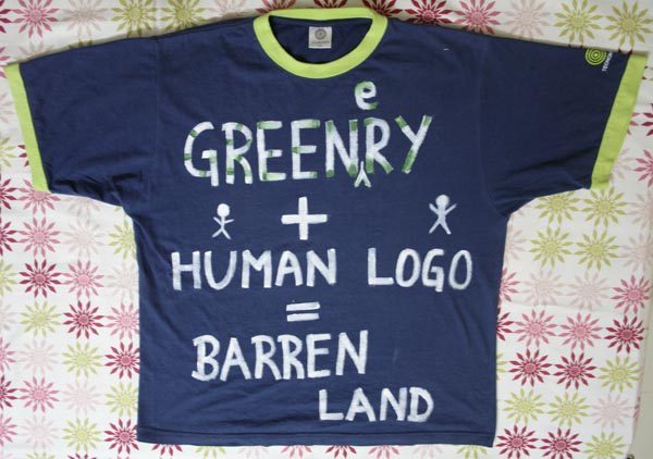 Greenery + Humans = Barren Land