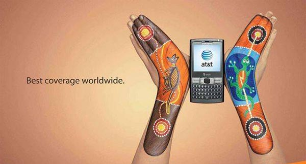 23 creative ads by AT&T [hand-modelling advertisements] - Painted boomerangs