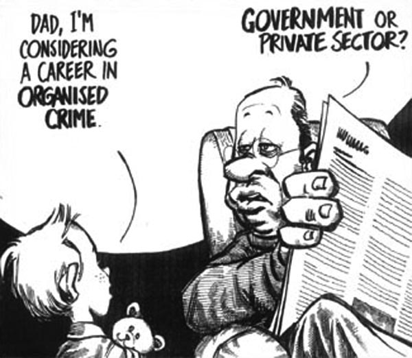 Cartoon of the year - Kid planning a career in organised crime!