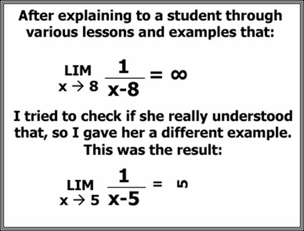Why are teachers stressed - Hilarious example of Calculus