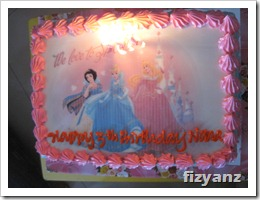 Birthday Cake Theme Princess