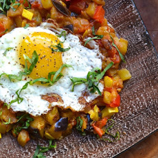 Ratatouille With Fried Eggs