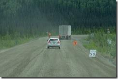 07 gravel road entering Canada, 50 km