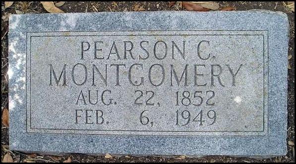 Pearson Montgomery Tombstone