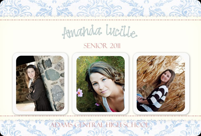 2011 Grad Announcement Amanda Front