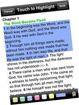 Free bible on iPhone - AcroBible