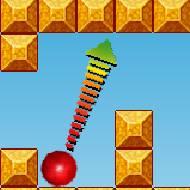 lançamento oblíquo movimento de projéteis física jogo bouncy