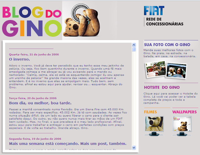 Home Page do Blog do Gino
