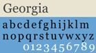 Popular Web Fonts Used in Web-Safe Design Georgia