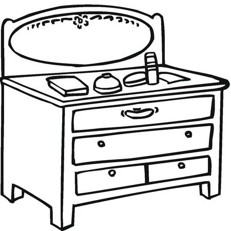 Dibujos de muebles para colorear - Dibujos para cabeceros de cama ...
