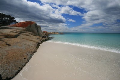 Binalong Bay Bay of fires Tasmania Australia