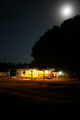 Bramwell Station by night