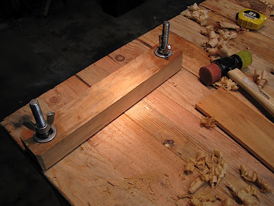 for chopping out waste between dovetails