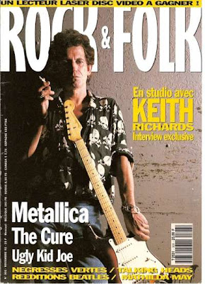 Keith Richards en couverture de Rock & Folk en 1992