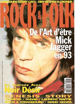 Mick Jagger en couverture de Rock & Folk en 1993