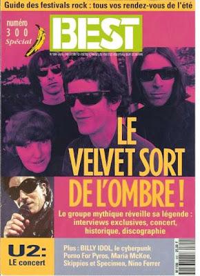 Le Velvet Underground en couverture de Best en 1993