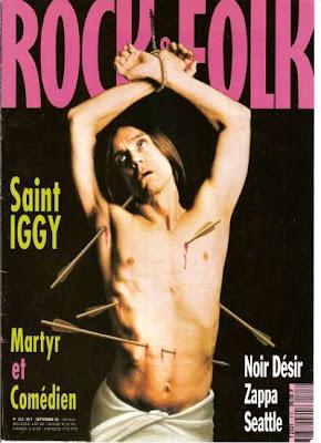 Iggy Pop en couverture de Rock & Folk en 1993