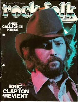 Eric Clapton en couverture de Rock & Folk en 1978