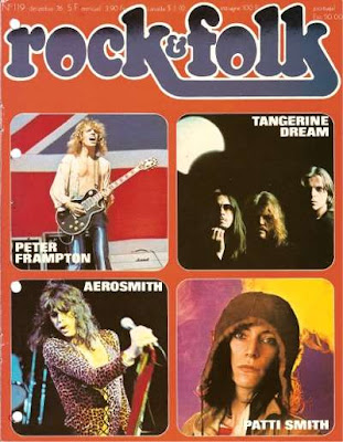 Tangerine Dream en couverture de Rock & Folk en 1976